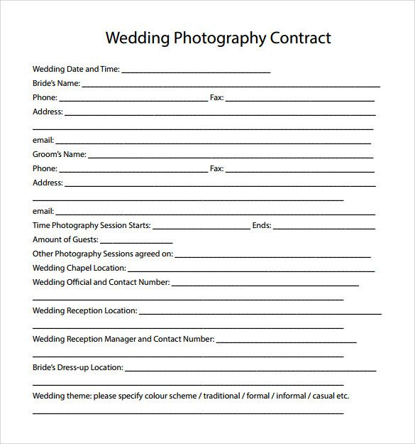 Image result for photography payment plan contract agreement - wedding contract template