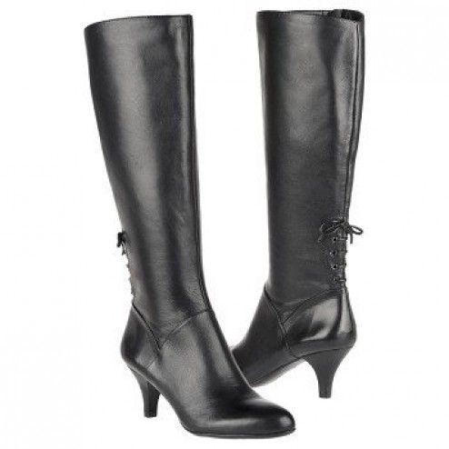 Naturalizer, Dinka, Wide Shaft Black Leather