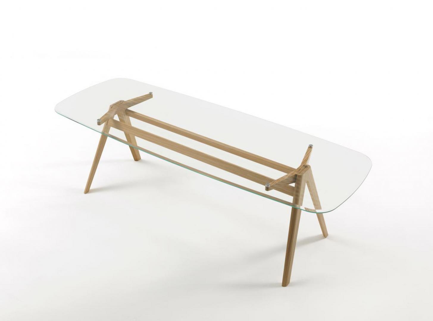 Tavolo In ~ Il designer gianluca ferullo disegna un tavolo in legno e vetro