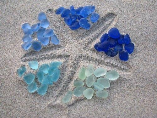 starfish sand sea glass