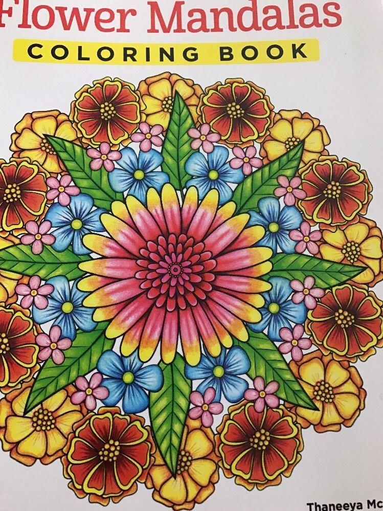 Design Originals Flower Mandalas Coloring Book 5529 NMG