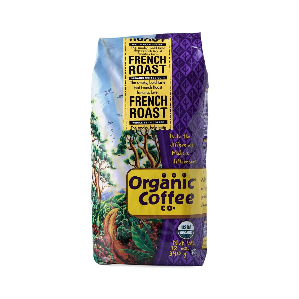 Shop Organic Coffee Company French Roast Ground Coffee at