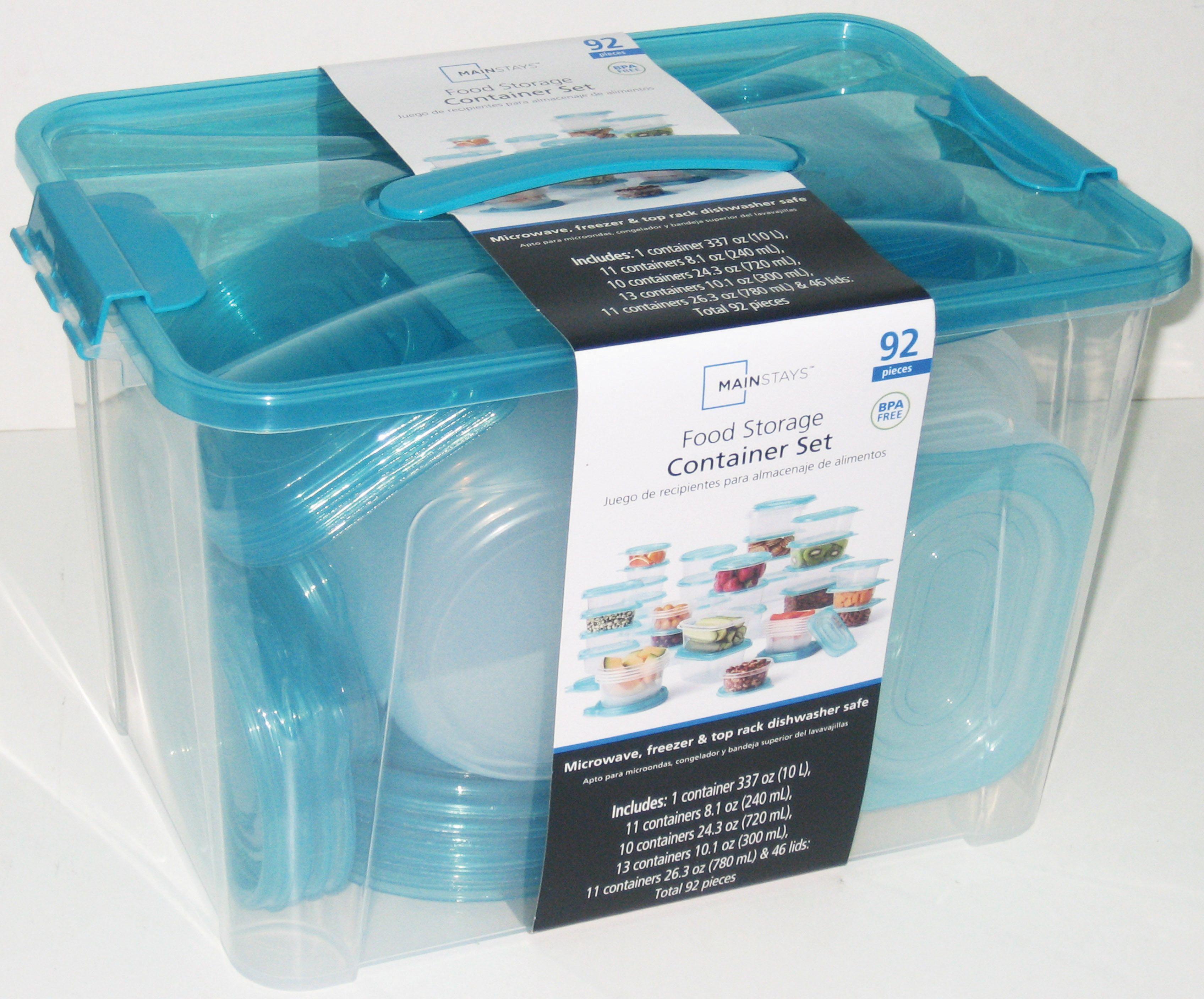 Mainstays 92 Piece Food Storage Container Set Walmart Com Food