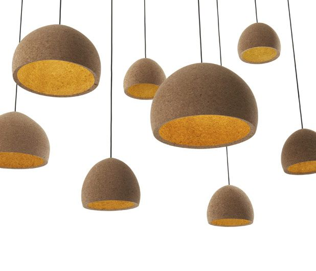 BENJAMIN HUBERT FLOAT LIGHT These Hand Turned Agglomerate Cork Lamps Are  Made From Waste Cork, Making Them Not Eco Friendly As Well As Visually  Interesting.