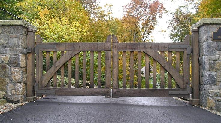 Grand Entrance Gates Wooden Gates Driveway Entry Gates
