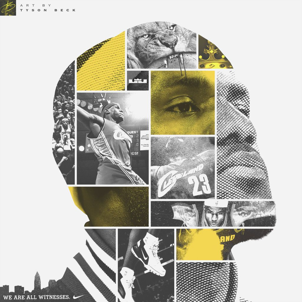 fdb36f19455 LeBron James - Face of Cleveland - Artwork by Tyson Beck on Behance ...