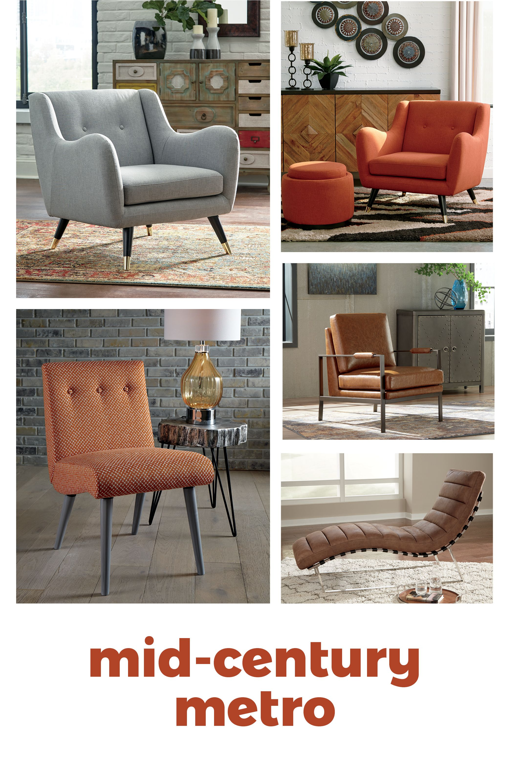 Mid Century Metro Chairs By Ashley Furniture With Images Furniture Outdoor Furniture Sets Ashley Furniture