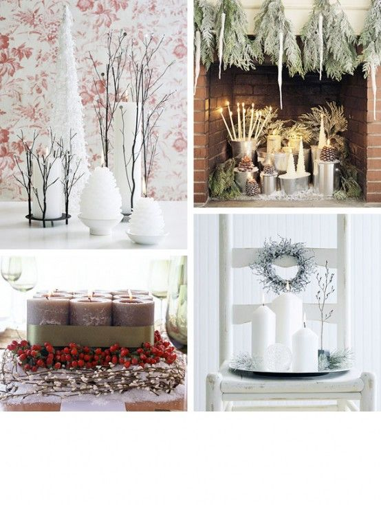 Cool Christmas Candles Decoration Ideas