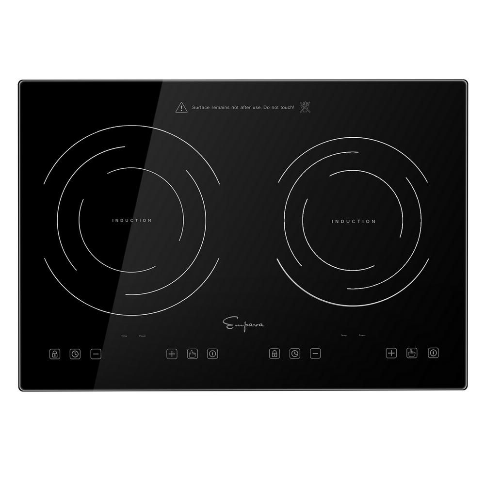 Empava Portable 20 5 In Electric Modular Induction Cooktop Smooth Surface In Black With 2 Of Elements In 2020 Induction Cooktop Electric Stove Cooktop