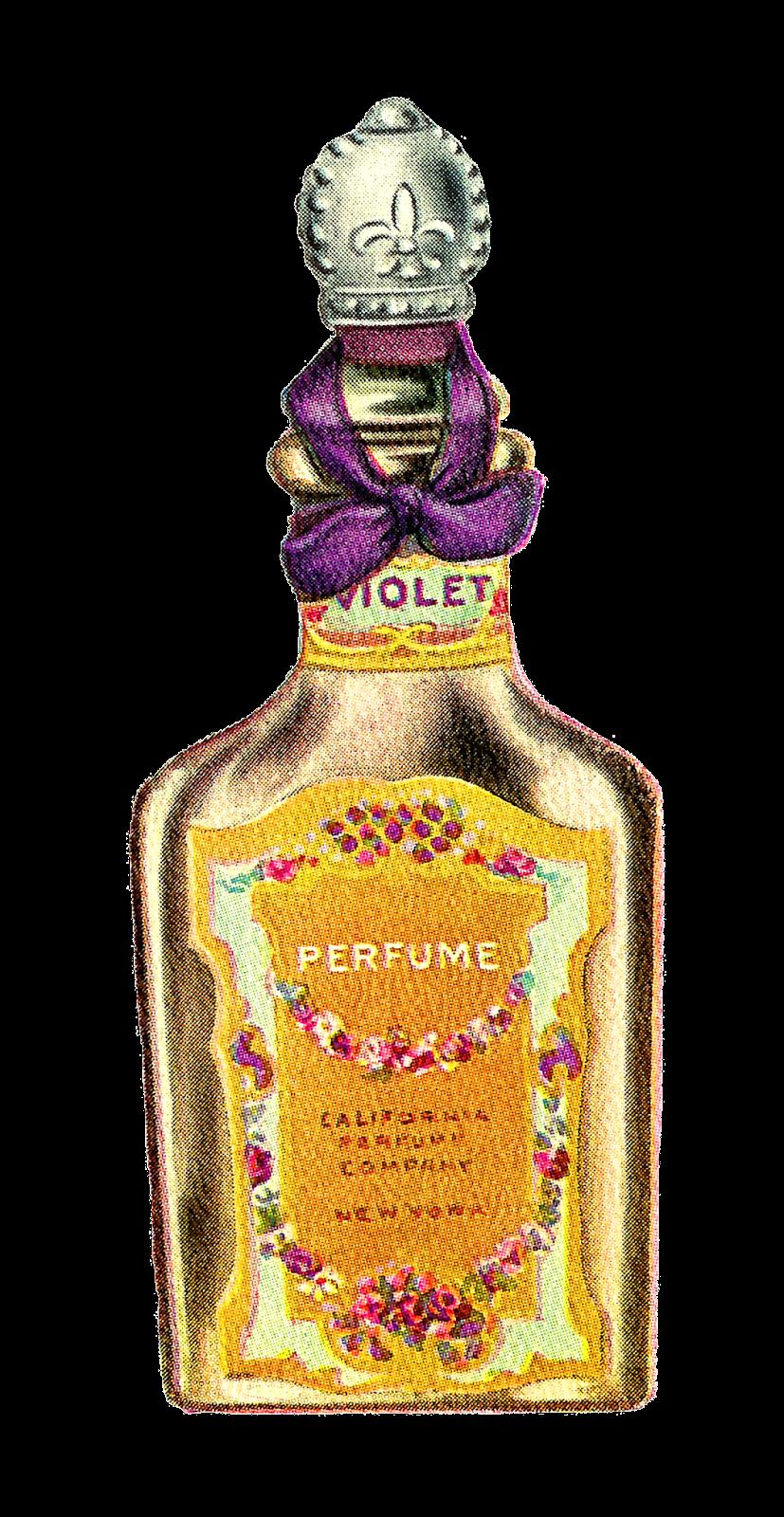 Antique Images Vintage Avon Perfume Bottle Artwork