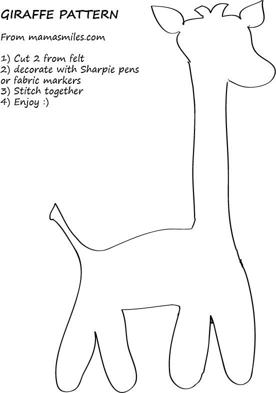 Free Easy-Sew Patterns - Great for Beginners! | Giraffe, Patterns ...
