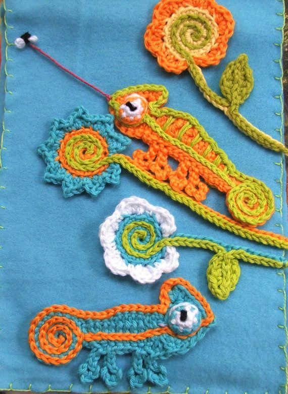 Instant Download Crochet PATTERNS CHAMELEON door susanlinnstudio ...