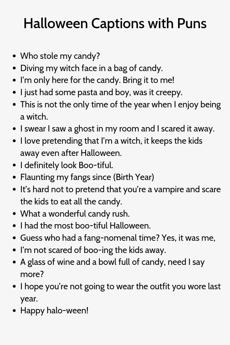 Halloween Captions With Puns Halloween Captions Instagram Captions Cute Instagram Captions