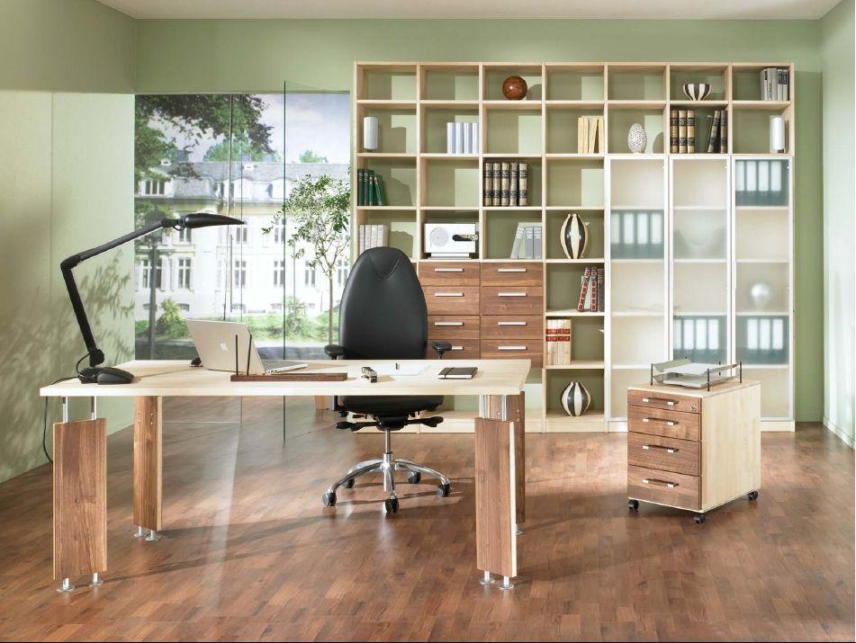 Schreibtisch Birke / Nussbaum