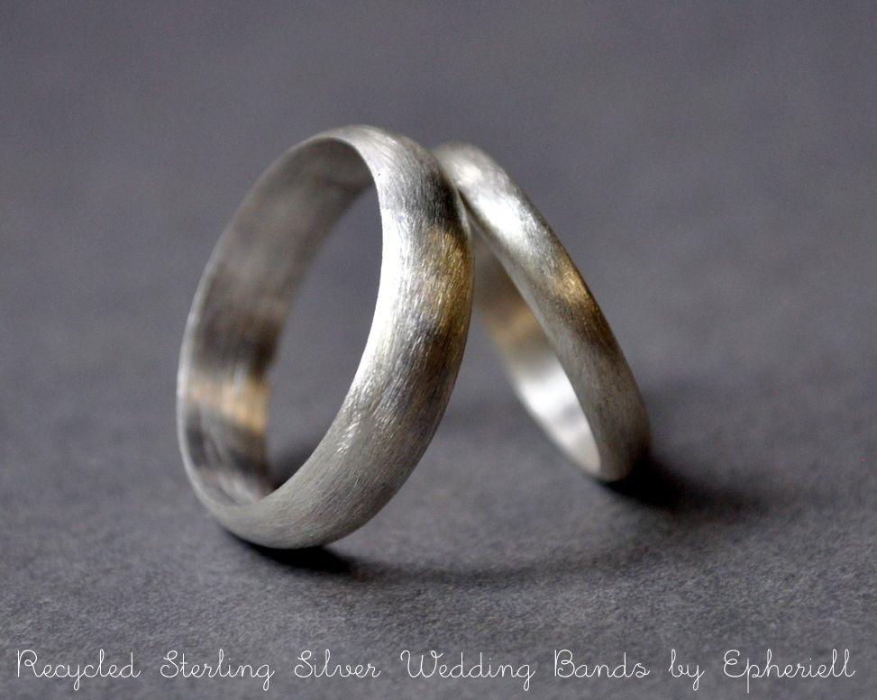 Fancy Eco Friendly Sterling Wedding Bands
