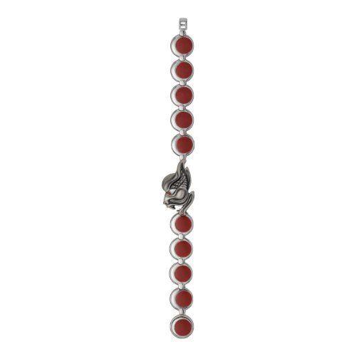 Enamel Blood Moon Bracelet in Sterling Silver with Burnished Vampire Mask Olivia V Firenze. $275.00