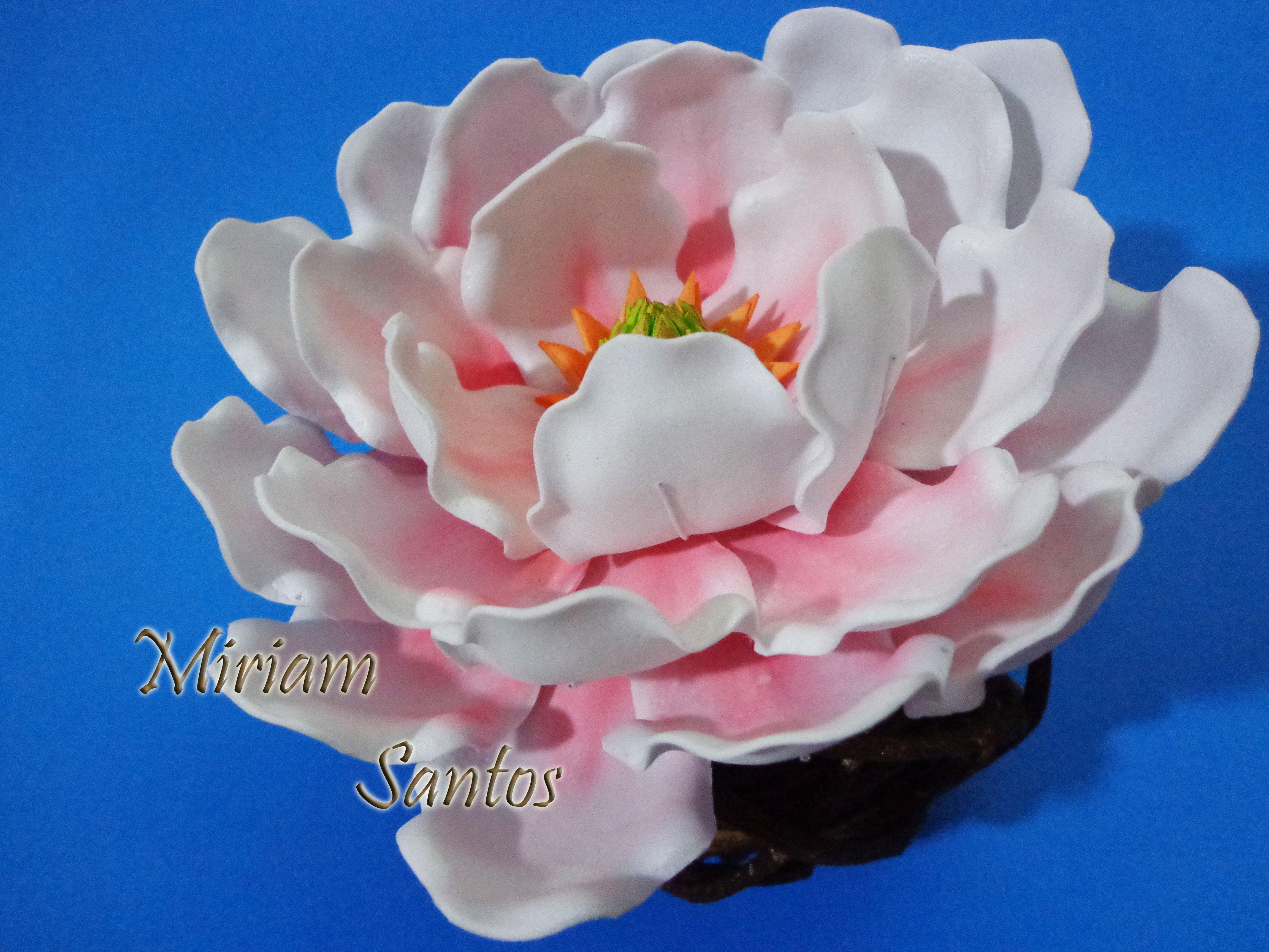 Magnolia hecha en foami flor magn lia de eva goma eva - Flore de goma eva ...