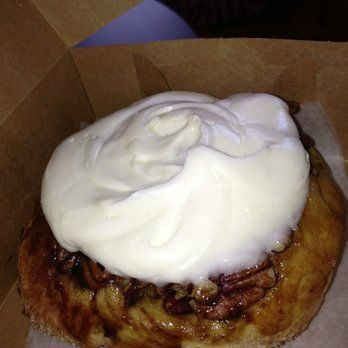 Yes it really looks that good. Get the combo with cream cheese icing and pecans. Worth it! | Yelp