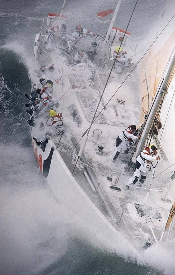 """""""The World's Toughest Yacht Race"""" the BT Global Challenge, 1996."""