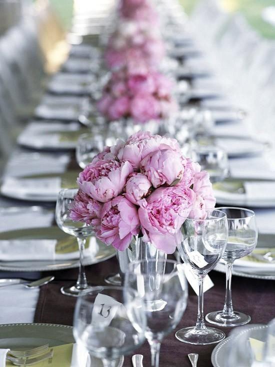 Centre de table de mariage de pivoine sur pinterest for Pinterest centre de table