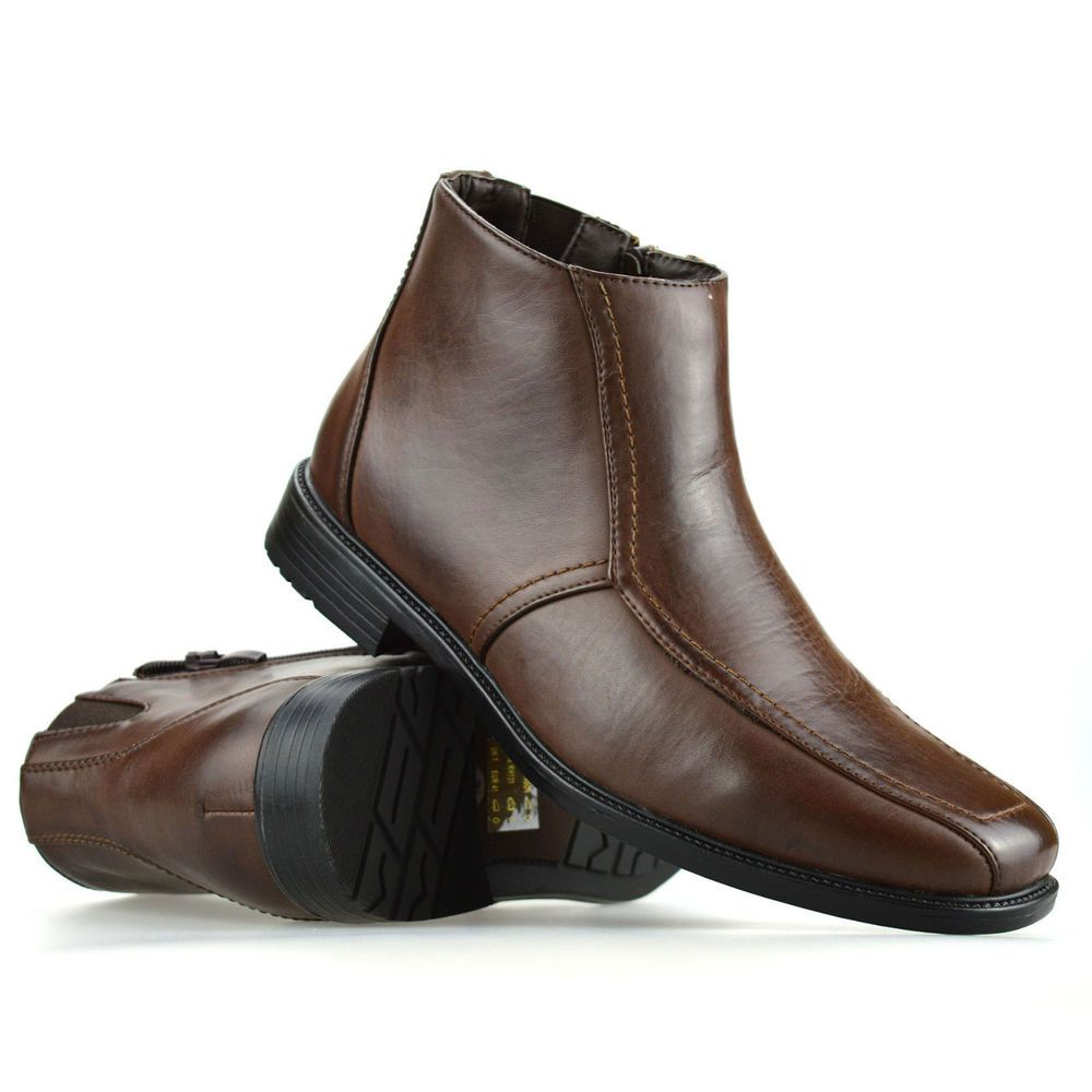 56285889b7a Mens New Combat Style Zip Up Ankle Cowboy Chelsea Dealer Biker Boots Shoes  Size