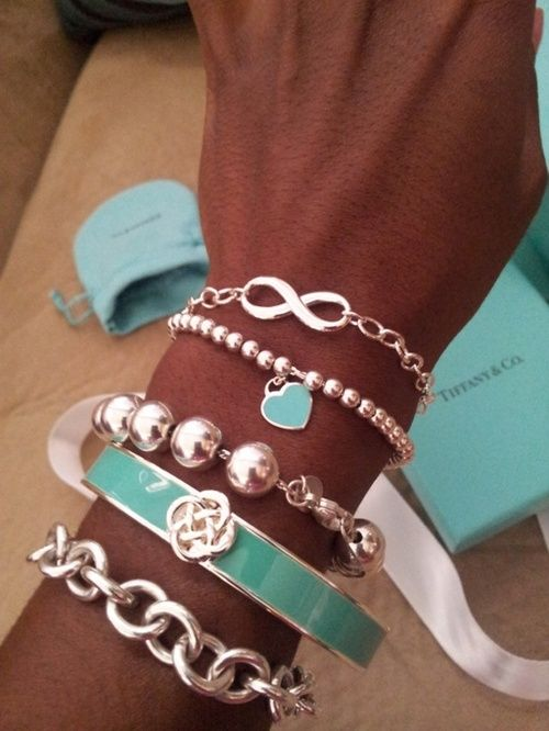 silver and turquoise arm candy