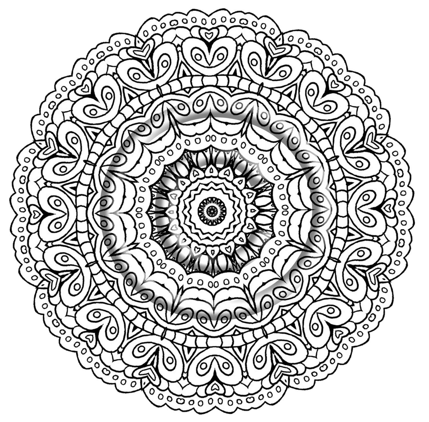 Kaleidoscope Coloring Pages Pdf