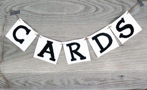 Cards Banner, Garland, Bunting, Wedding Banner, Wedding Decor www.letterkay.etsy.com - Letter Kay - #letterkay