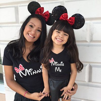 8f5ea6dc3cd Short Sleeve Cartoon Printed Cotton Mother-Daughter Black T-Shirt   Price    10.28   FREE Shipping     deals