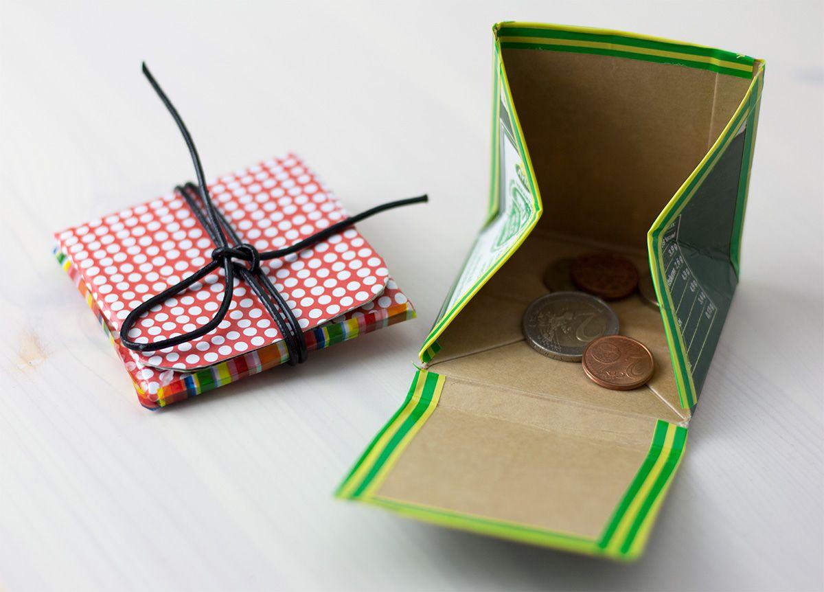 geldbeutel aus tetra pack upcycling deko pinterest m ll machst du und zu hause. Black Bedroom Furniture Sets. Home Design Ideas