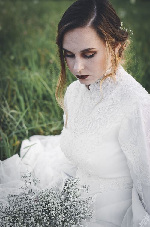 Gothic Bride Editorial (C) RAINWATER PHOTOGRAPHY