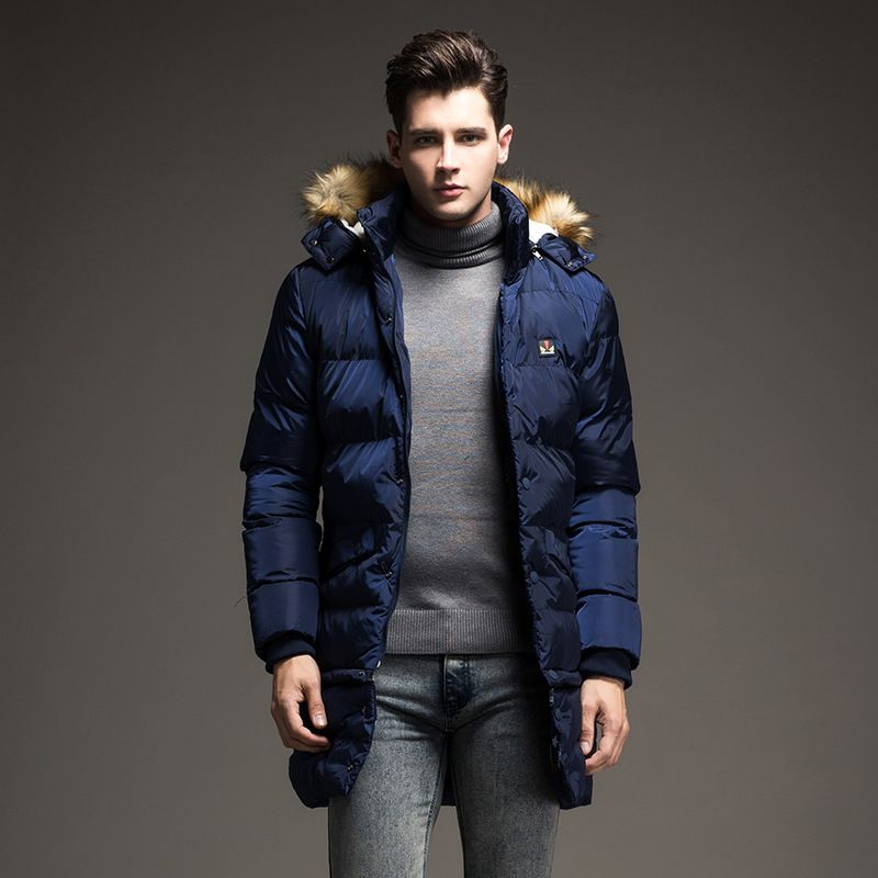 Thick Warm Men Parkas Winter Cotton Jacket Men Windbreak Fur ...
