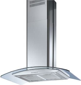 Futuro Futuro Is42mooncrys Island Mount Chimney Range Hood With 940 Cfm Internal Blower 4 Speed Electronic Controls 4 Halogen Lights Convertible To Non Ducte Curved Glass Halogen Lighting Stainless Steel Hood Vent
