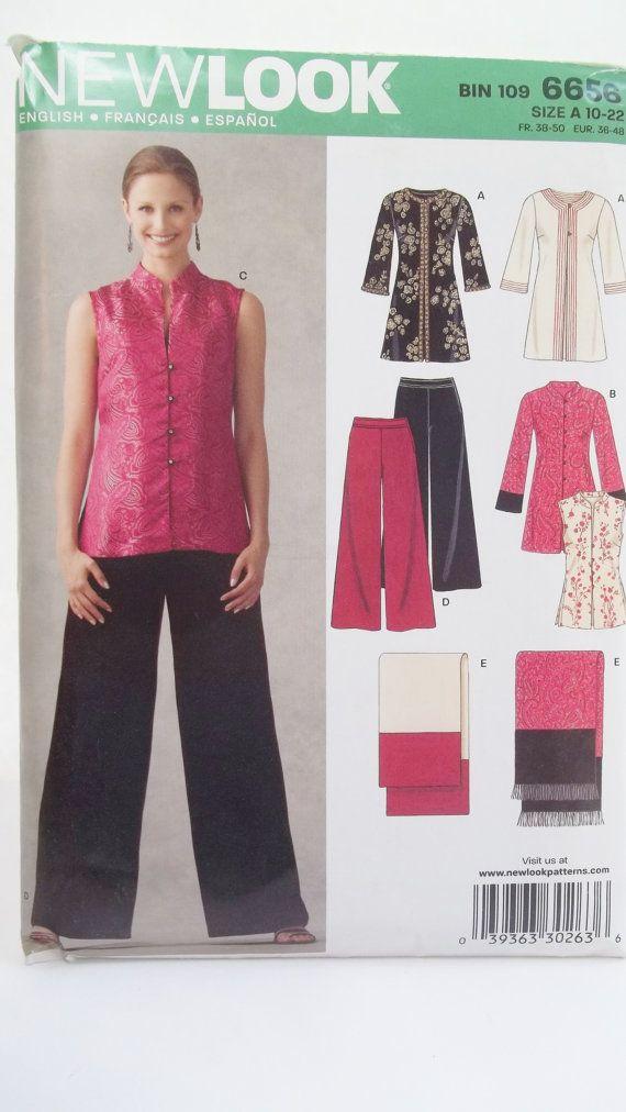 029dac2b589 New Look 6656 Sewing Pattern, Ladie's Evening Wear, Misses' Mandarin ...