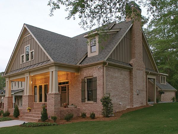 Craftsman House With Brick