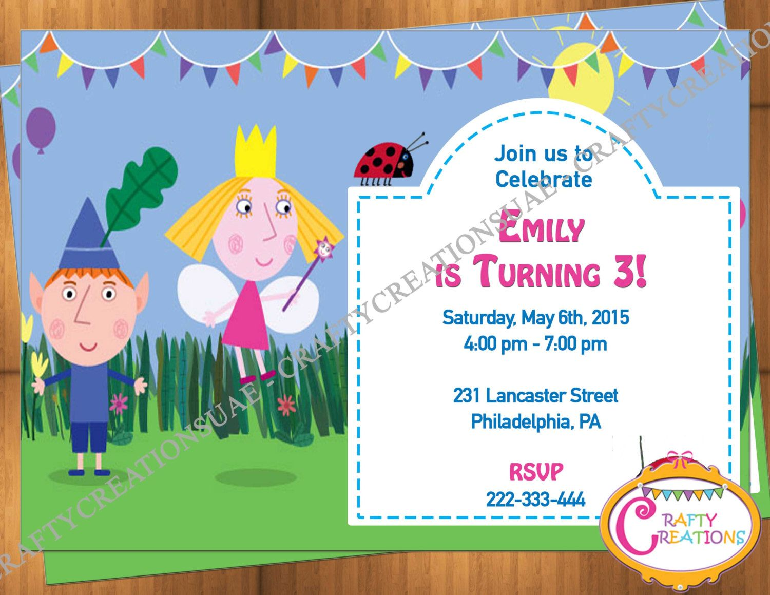 Ben and Holly Invitation - Ben and Holly\'s Little Kingdom Birthday ...