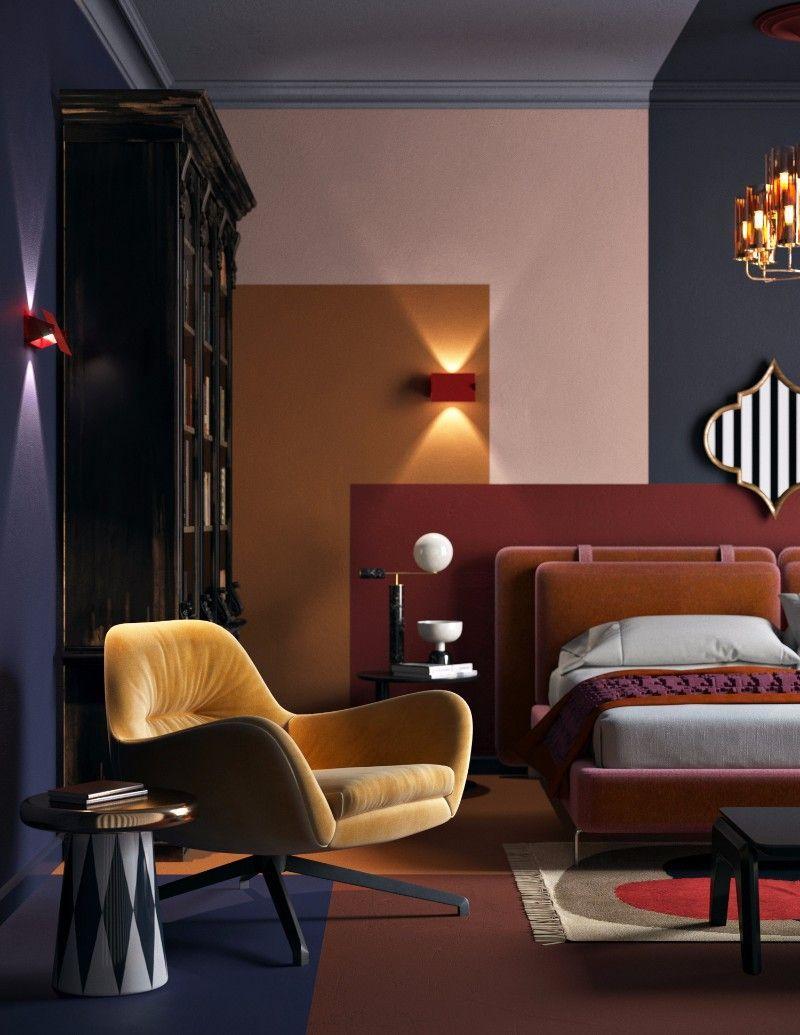 Trends 2019 Bunte Schlafzimmer Designs 20182019 Wohnideenschlafzimmer Interior Ideas2018 Tapetentr Colorful Bedroom Design Interior Design House Interior