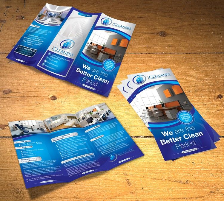 New brochure design wanted for iCleaners Commercial Cleaning - services brochure