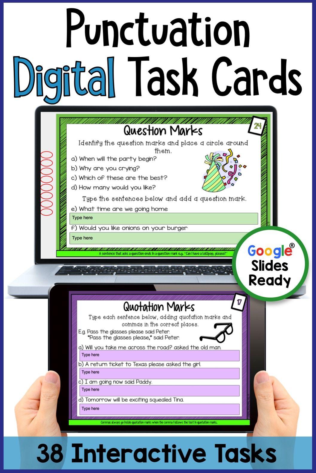 Punctuation Digital Activities Drive Resource
