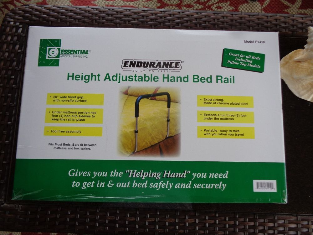 ENDURANCE Height Adjustable Hand Bed Rail P1410 NEW