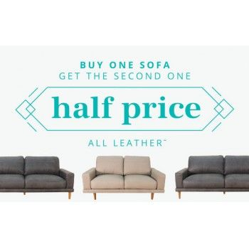 One Sofa Get The 2nd Half Price Early Settler Bargain Bro