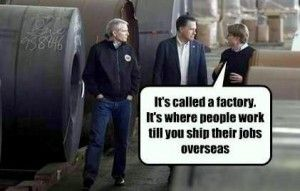 Romney's factory tour