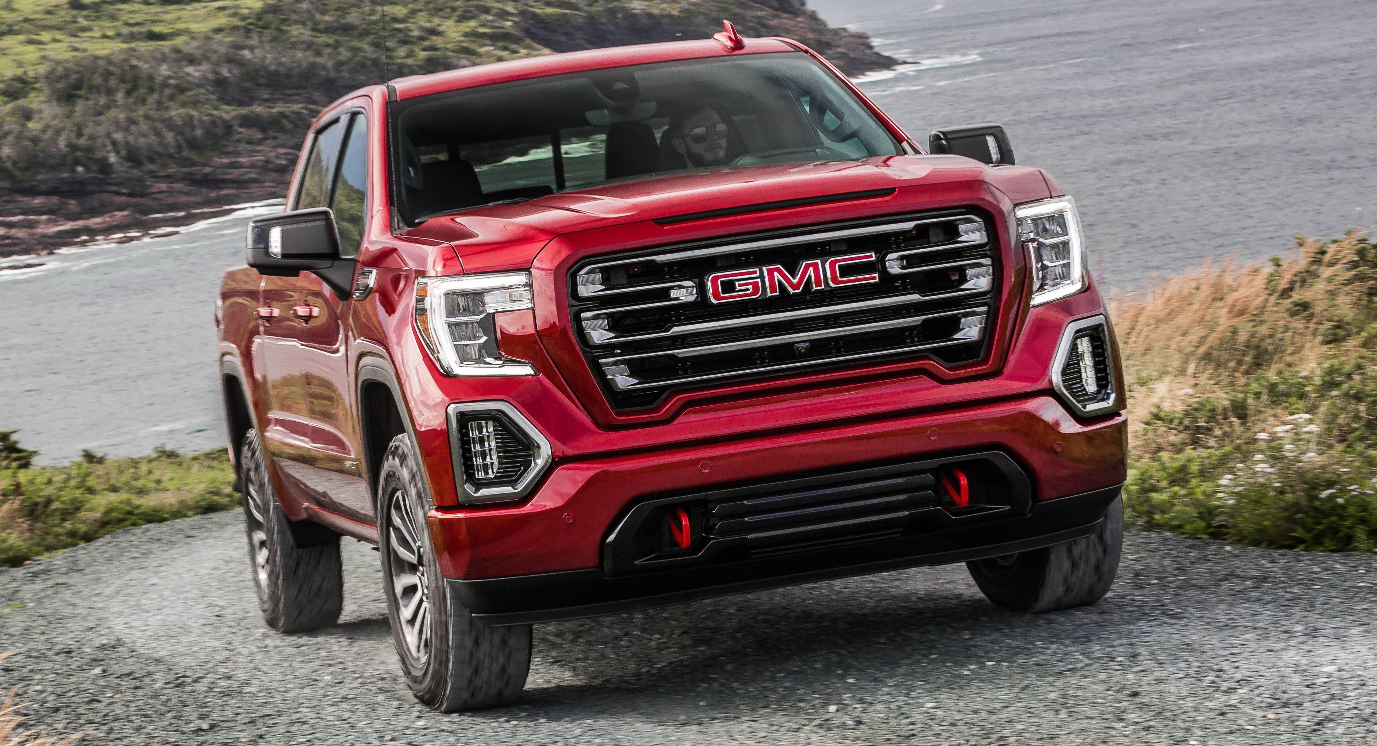 2019 Gmc Sierra At4 Off Road Performance Package Gains 435hp 6 2l V8 Gmc Sierra Gmc Pickup Trucks Gmc