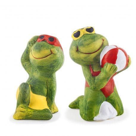 Margot Bernhard The Sunshine Loving Garden Frog Ornaments