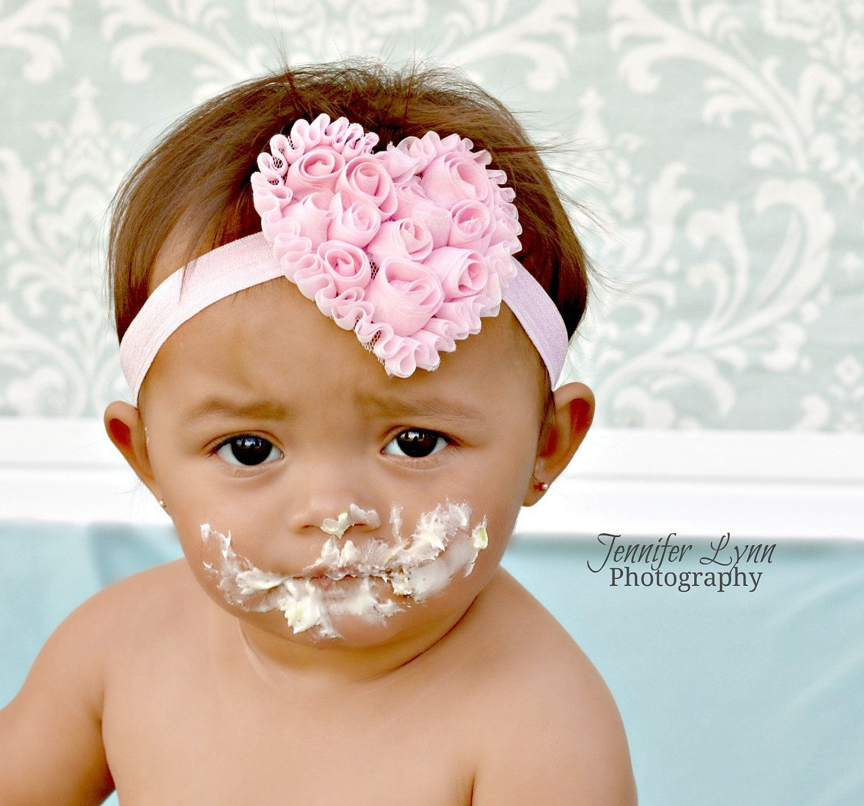 Pink Baseball Headband Newborn Photo Prop Newborn Headbands Infant Headbands Baby Headband Headbands for Babies PINK BASEBALL HEADBAND