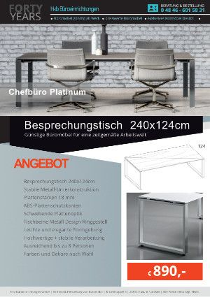 Chefbüro Platinum – hochwertige Büromöbel