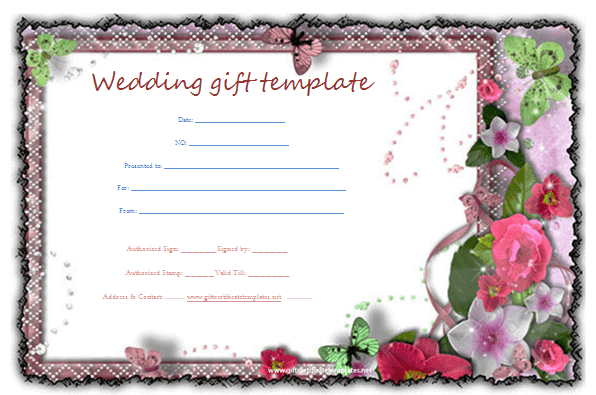 Butterfly Gift Certificate Template Beautiful Printable Gift