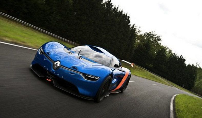 Renault Alpine A110-50 Concept - front view on street