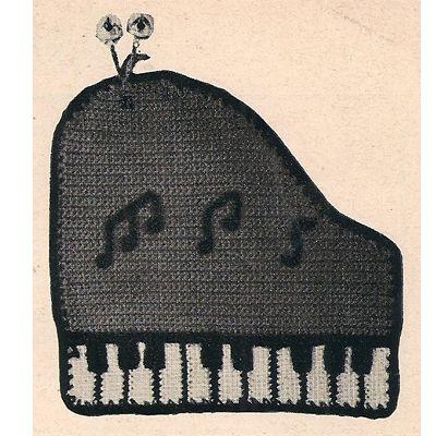 Piano Crochet Potholder PDF Free Pattern | For the Love of Crochet ...