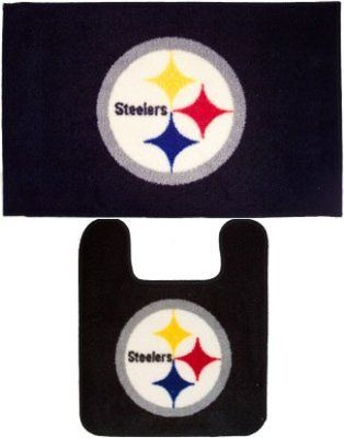 Pittsburgh Steelers 2 Piece Bath Mat Set Rug And Contour